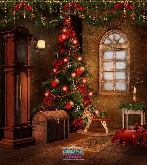 Traditional Christmas Setting  #backdrops #backdrop #photobackdrop #studiobackdrop #backdropsaustralia #photographybackdrop #vinylbackdrop #cakedrops #dropz #photography