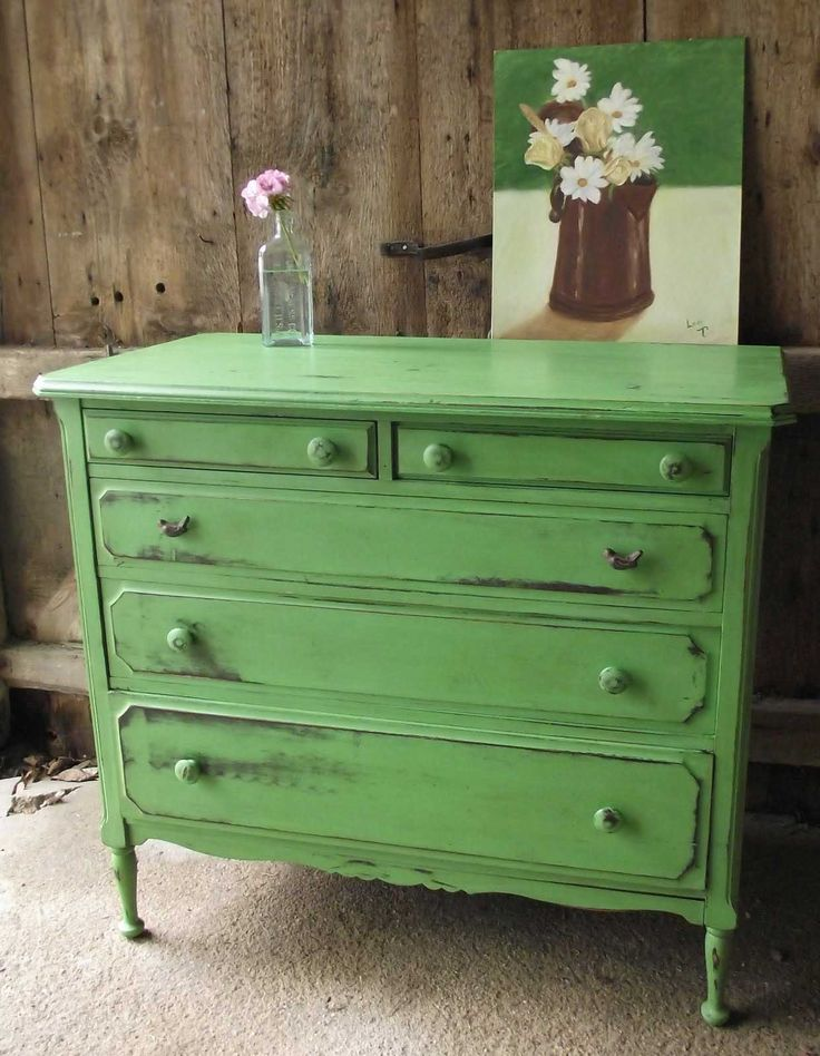 Best Design Green Distressed Furniture