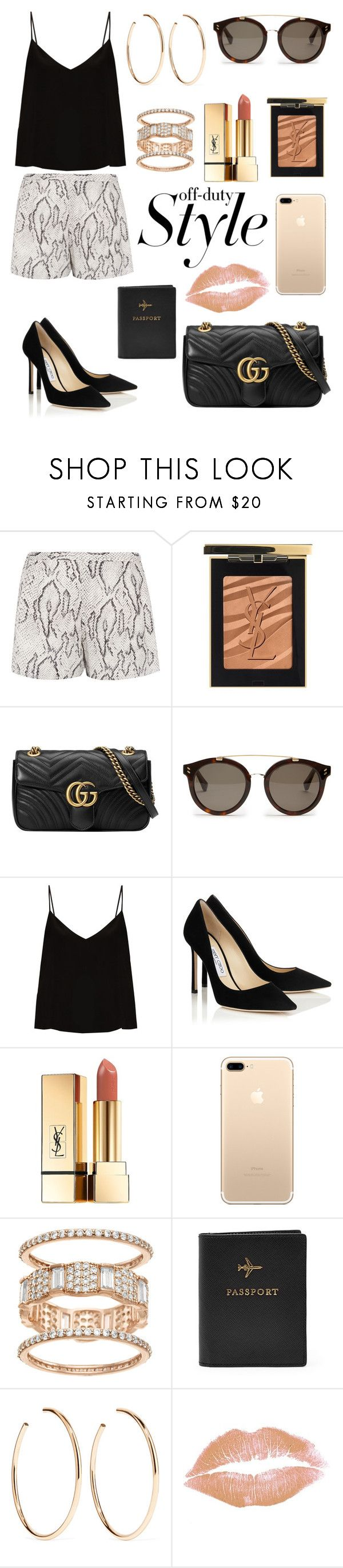 """""""off-duty Style ✈️"""" by stylebyceylin ❤ liked on Polyvore featuring Haute Hippie, Yves Saint Laurent, Gucci, STELLA McCARTNEY, Raey, FOSSIL and Jennifer Fisher"""