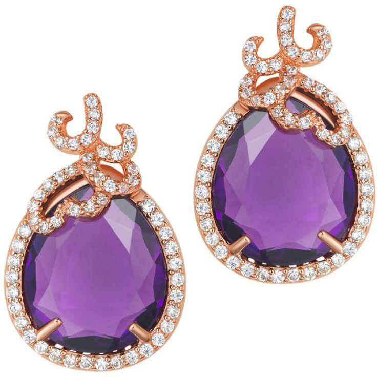 Silver Whispering Earrings - Amethyst - Fei Liu #jewellery #feiliu #necklace #luxury #earrings