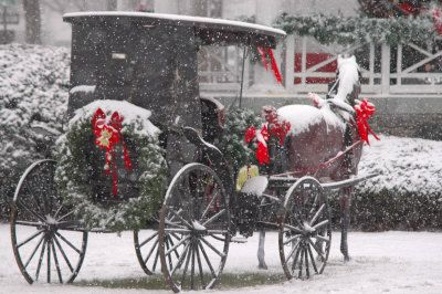 SO PRETTY: Holiday, Christmas Time, Vintage Christmas, Amish Life, Snow, Winter Wonderland, Horse, Merry Christmas
