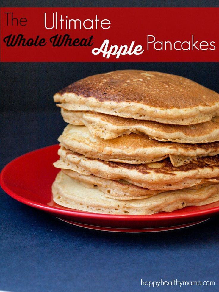 These are THE BEST whole wheat pancakes I've ever tasted! The apple ...