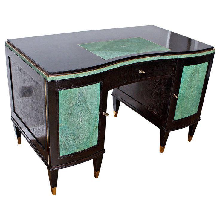 Eleganter Art Deco Schreibtisch Frankreich Um 1935 Deko