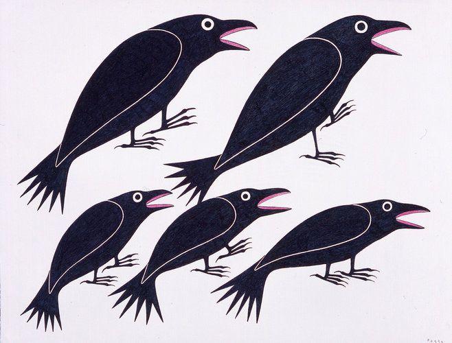 Dancing Ravens by Kenojuak Ashevak