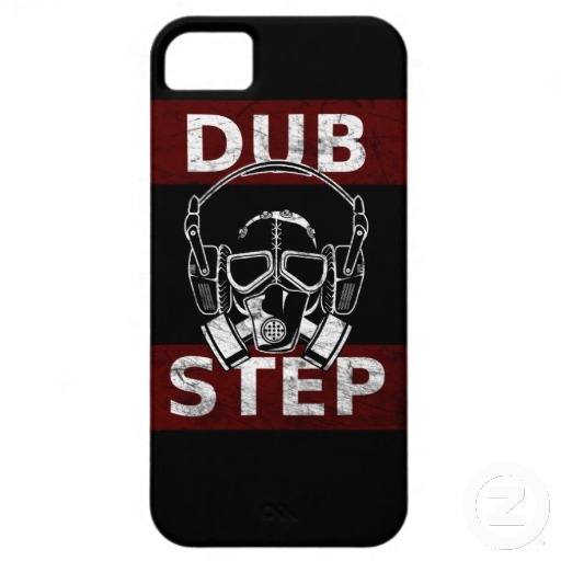 Dubstep gas mask & headphones iPhone 5 case