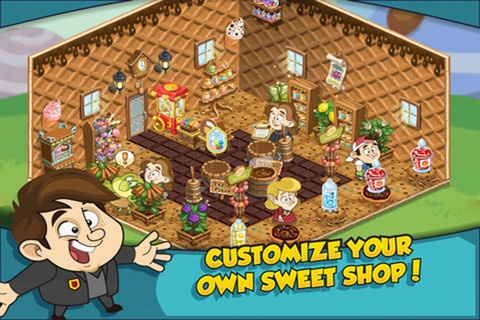 Create a Sweet Shop in a world of wonders! You've been picked by a brilliant (and slightly insane) Candy Confectioner to run his shop. It may be small, but it is world famous as the best place to find sweet treats, clever contraptions and delicious delectables.    This app is designed for both iPhone and iPad    Version: 1.08  Size: 20.4 MB  Language: English  Seller: Breaktime Studios  © 2011  Rated 4+