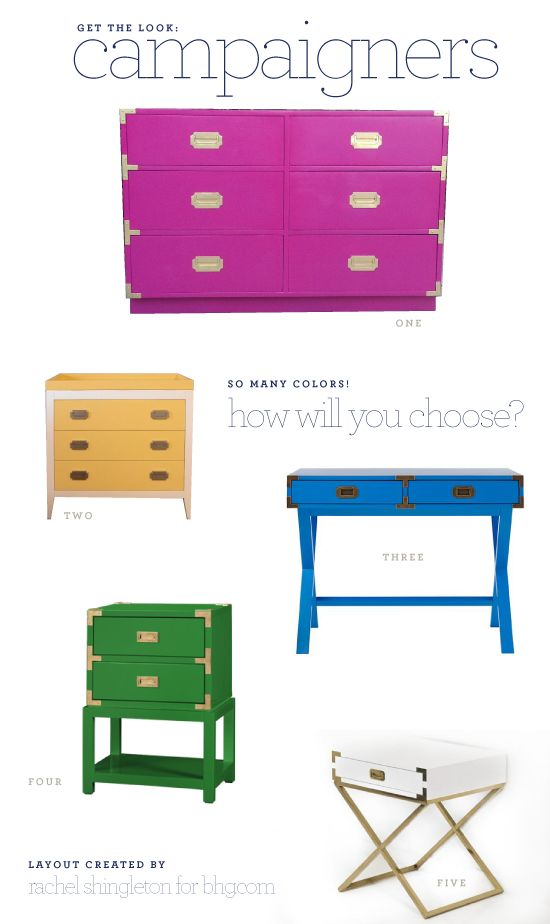 Get the look: colorful campaign furniture with @psstudio