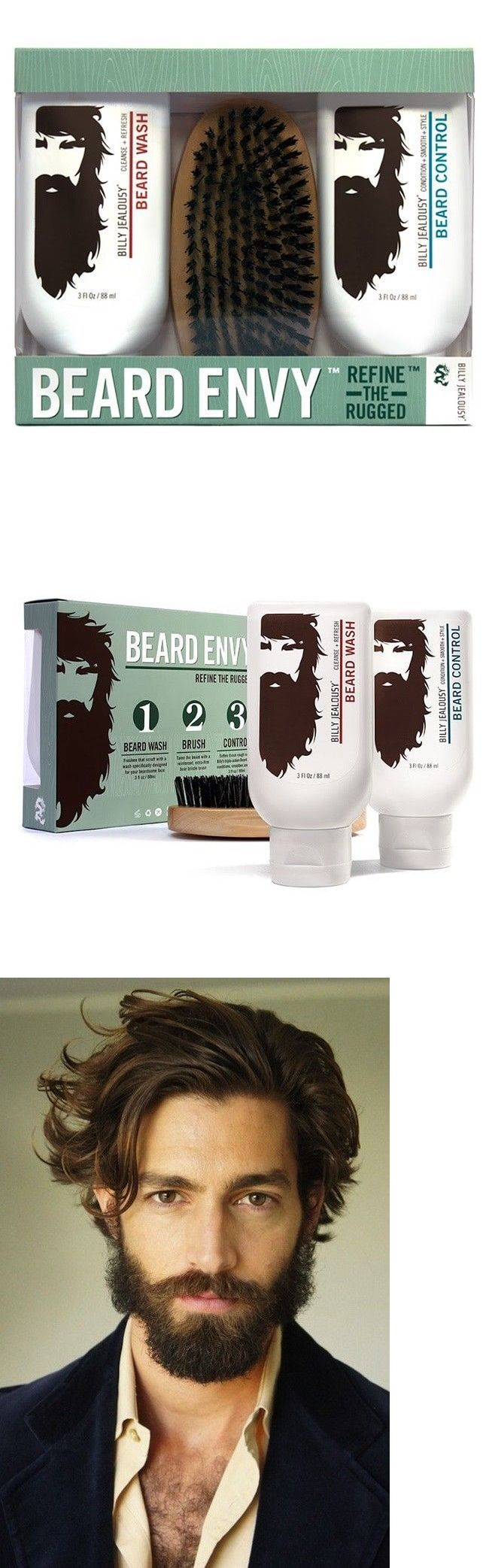 Shaving and Grooming Kits and Sets: Beard Grooming Kit Shampoo Conditioner Brush Set Mens Gift Personal Care Pack BUY IT NOW ONLY: $36.78