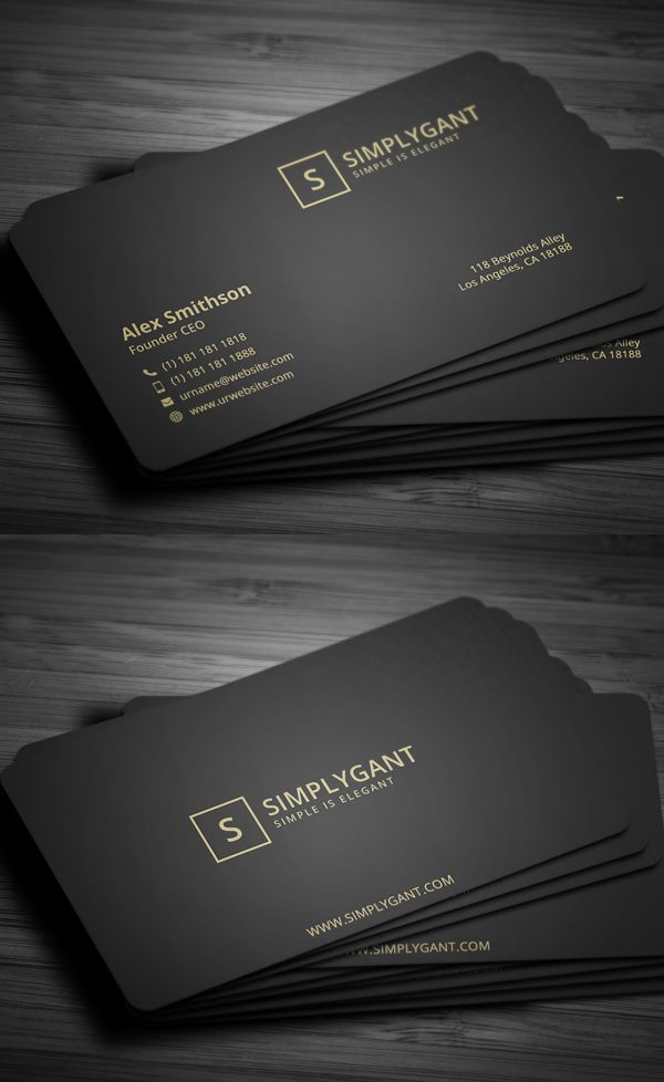 Minimal Gold Business Card