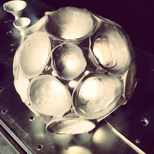 Lamp made by ceramic waste - Chiarasonda