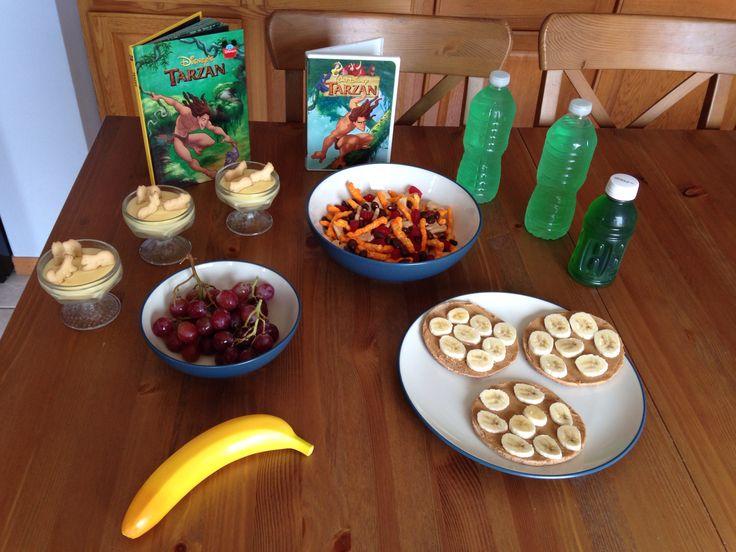 Tarzan Dinner - Safari Sandwiches, Gorilla Grapes, Jane's Jungle Juice, Terk's Monkey Mash and Tarzan's Jungle Snack Mix - Tarzan Movie Night - Disney Movie Night - Family Movie Night