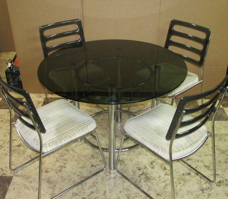 vintage mid century exclusive chromcraft chrome dining kitchen table lucite chromcraft - Chromcraft Dining Room Furniture