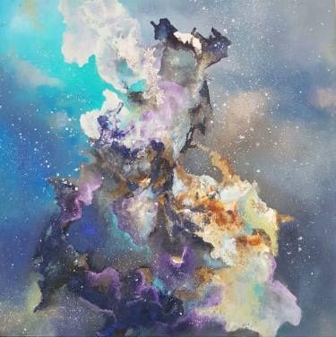 "Saatchi Art Artist Aria Dellcorta; Painting, ""Contemplation"" #art #abstract #saatchiart #new #energizers #fineart #painting  #artforsale #academicart"