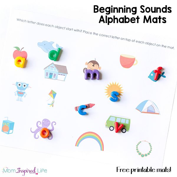 These fun beginning sounds alphabet mats are an excellent way to teach letter sounds and initial sounds.