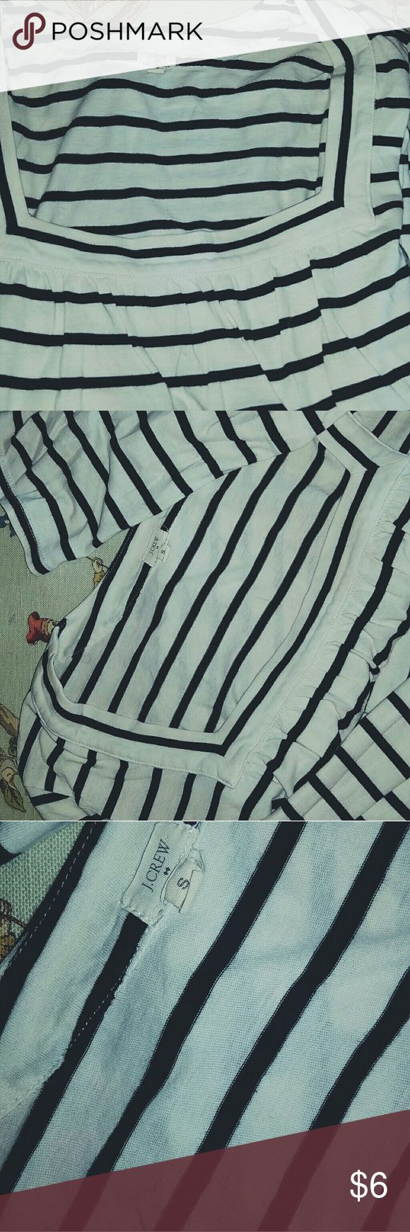 J CREW 1/2 SLEEVE SMALL SHIRT 100% cotton GENTLY OWED j crew Tops Tees - Long Sleeve