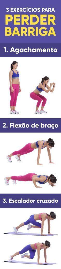 Os 3 exercícios para fazer em casa e perder barriga fortalecem os músculos abdominais, melhorando a postura, contribuindo para um melhor contorno corporal e aliviam a dor nas costas, que pode estar relacionada a fraqueza do abdômen.