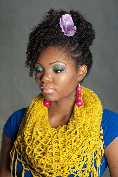 #natural #kinky #curly #hair. To learn how to grow your hair longer click here - http://blackhair.cc/1jSY2ux