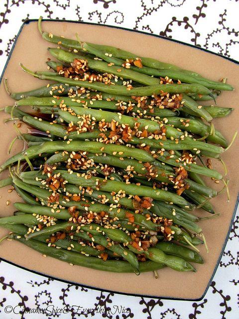 Sesame Garlic Ginger Green Beans