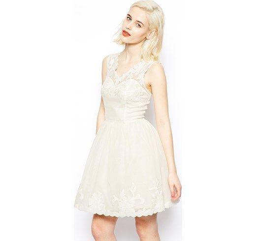 ASOS - Prom dress stile gotico - Crema asos  Classico