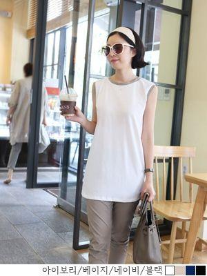 korean fashion online store [COCOBLACK] Hull T line / Size : FREE / Price : 26.18 USD #tops #tshirts #womenstops #longT #korea #fashion #koreafashion #missy #workingmom #missylook