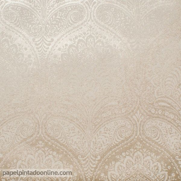 17 mejores ideas sobre papel pintado damasco en pinterest for Papel pintado marron y dorado