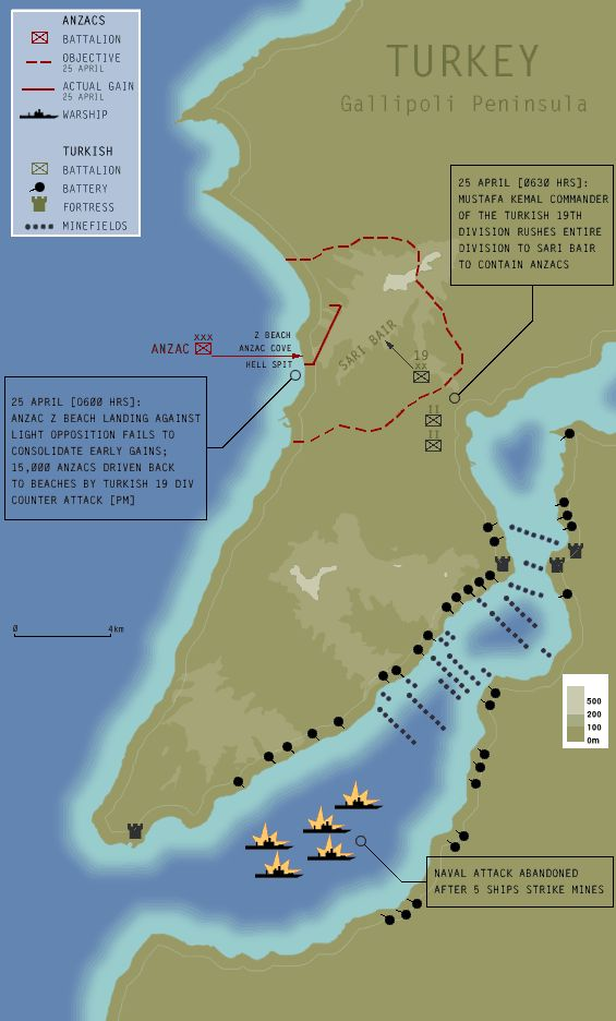 Gallipoli Campaign Map 55 best history of