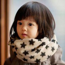1 PC 2016 New Kid Crianças Da Criança Da Menina do Menino de Malha de Inverno de lã Quente Da Estrela do Lenço Baixada Envoltório Xale Pescoço Anel Pashmina(China (Mainland))