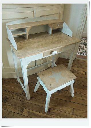 mini bureau d 39 enfant relook refaire un meuble pinterest. Black Bedroom Furniture Sets. Home Design Ideas