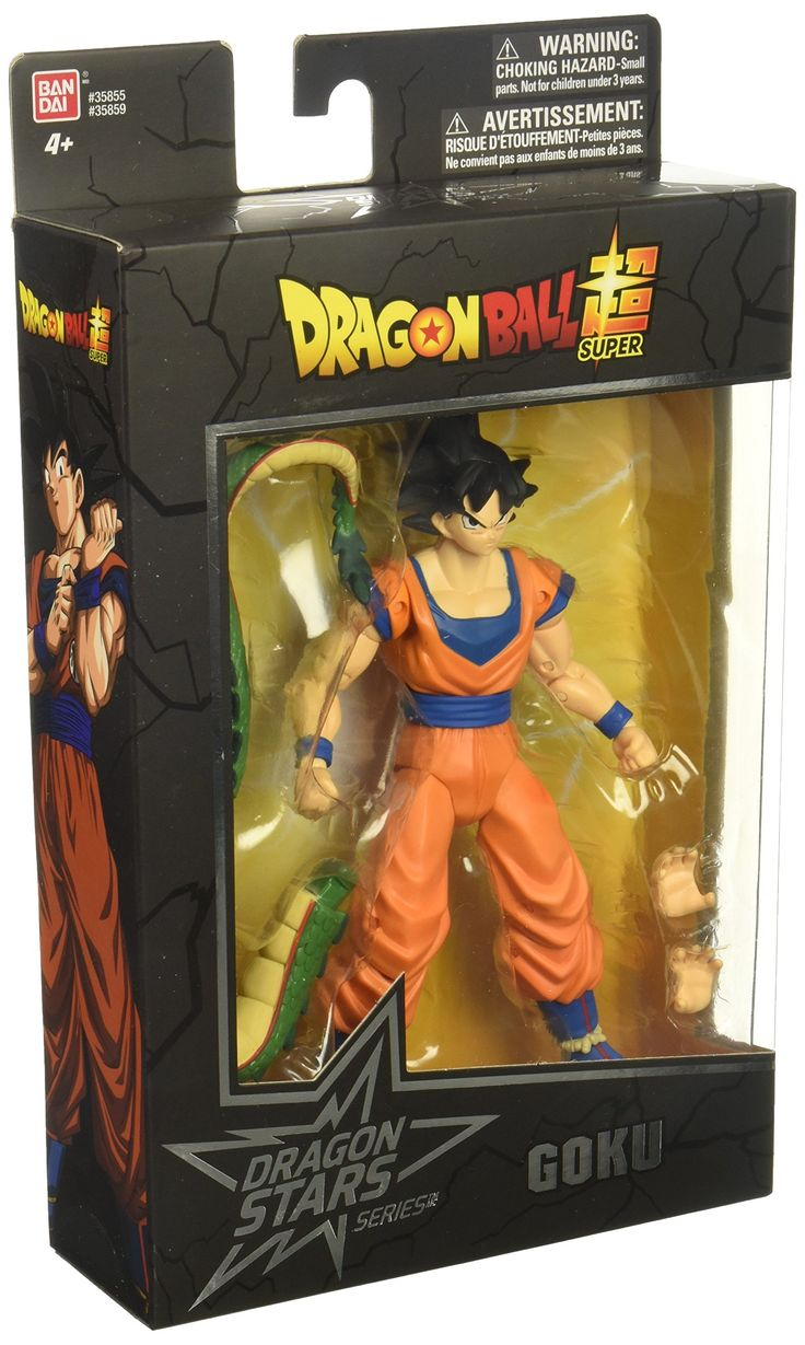 "Dragon Ball Super - Dragon Stars Goku Figure (Series 1). The Dragon Stars Series is comprised of highly detailed and articulated figures from Dragon Ball Super. Standing tall at 6.5"", having 16 or more points of articulation, and a set of additional hands, these figures can be posed in over 9,000 positions. Characters in Series 1 includes: Super Saiyan Goku, Vegeta, Beerus, Super Saiyan Vegeta, Frieza, and Goku. Each figure also includes a buildable piece that can be combined to form the..."