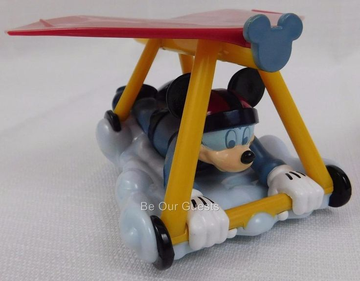Disney Parks Mickey Mouse Soarin Hang Glider Attraction Pullback Toy New
