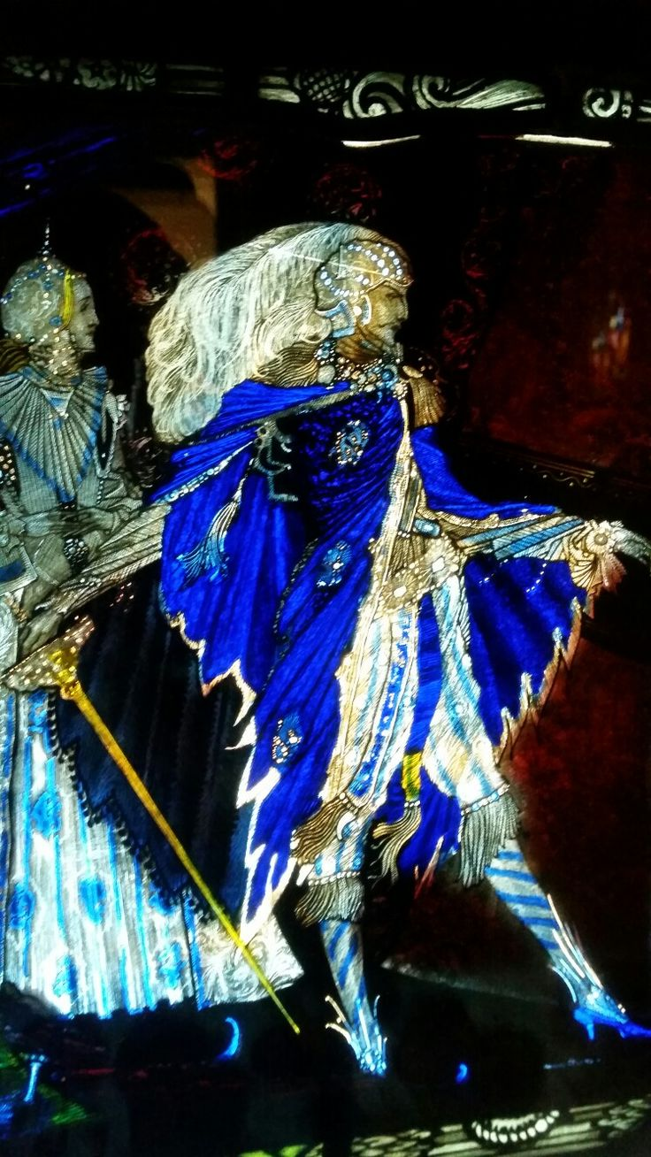 The Eve of St Agnes by Harry Clarke - You just crossed the line. Only I wear blue shoes. En guard!