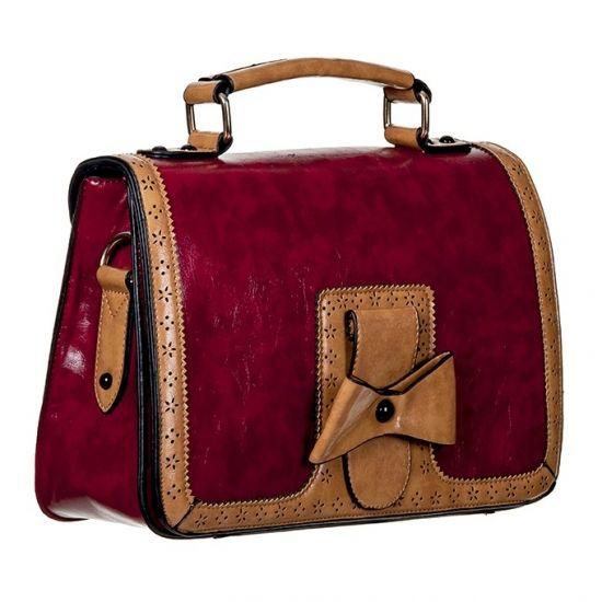 Rode handtas met strik