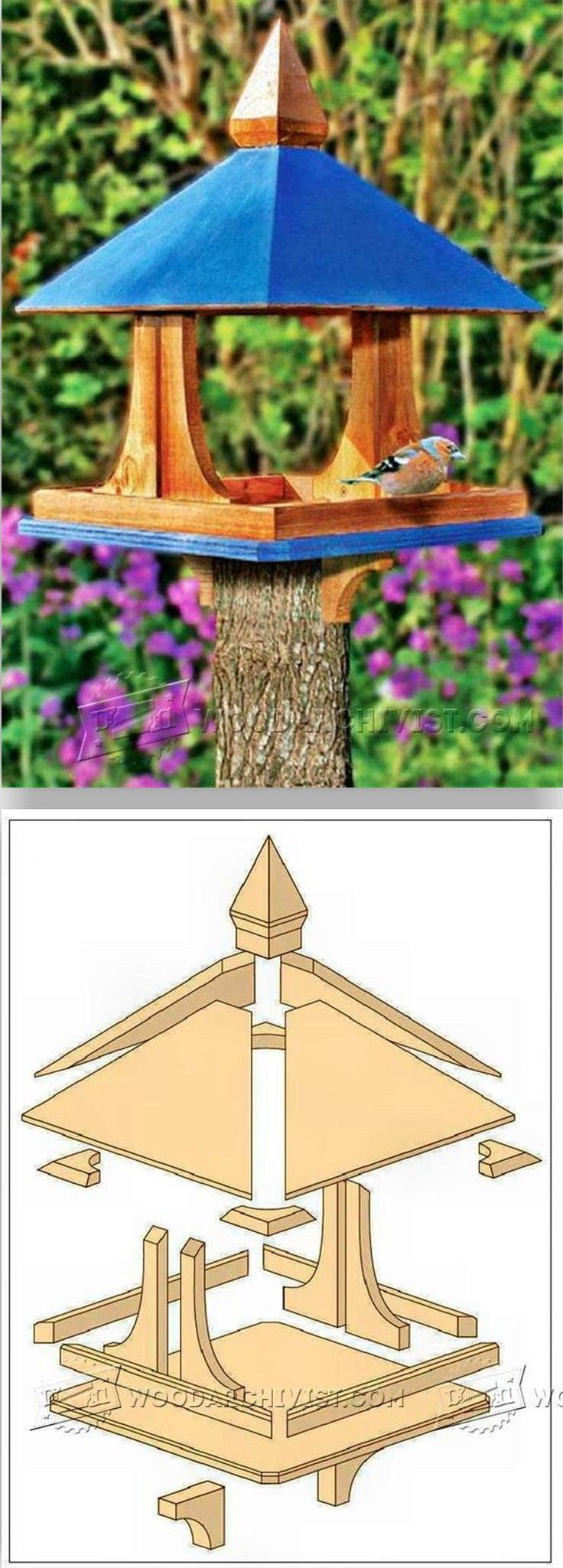 DIY Bird Feeder - Outdoor Plans and Projects | WoodArchivist.com