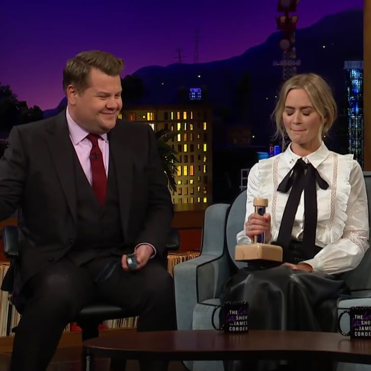 James Corden And Emily Blunt Shock Therapy Quiz Video In 2020