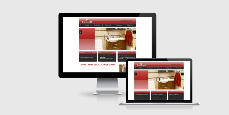 Website design for Heinämaa Bygg/Rakennus - Raasepori, Finland - by Pennanen Design