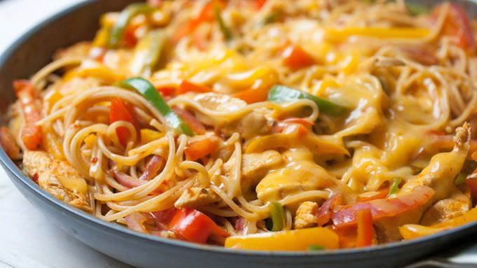 From chicken fajita pasta to slow-cooker maple pork shoulder, you're just one grocery run from a week's worth of delicious, low-stress meals.