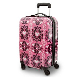 Disney Mickey Mouse Icon Luggage   Disney StoreMickey Mouse Icon Luggage - Board your flight to favorite Disney resort destinations carrying this shell suitcase accented by ''hidden Mickey'' icons and a lace filigree pattern. Loaded with features, this handy bag is roomy enough for all your getaway essentials.