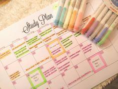"studywithalice: "" Learn how I made my study calendar here! """