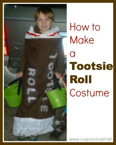 E- I am so excited about sharing your ideas about some fun and easy homemade costume ideas. Today I am sharing, reader, Annette's homemade costume idea – the Tootsie Roll Costume. This is a VERY cute costume idea that will work for a boy or girl and for any age. What child …