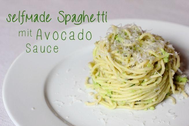 Selfmade Spaghetti mit Avocado-Sauce   eatbakelove