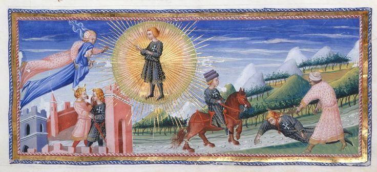 Death of Cacciaguida - Dante Alighieri Title Divina Commedia Origin Italy, N. (Tuscany, Siena?) Date between 1444 and c. 1450 Language Italian http://www.bl.uk/catalogues/illuminatedmanuscripts/record.asp?MSID=6468&CollID=58&NStart=36