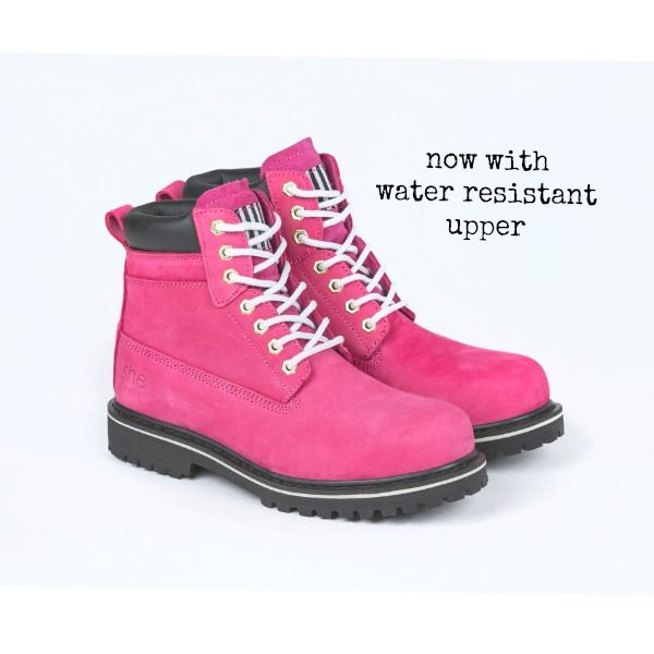 our top quality range of she wear safety work boots have been designed by women .. and designed to fit and look good on women.