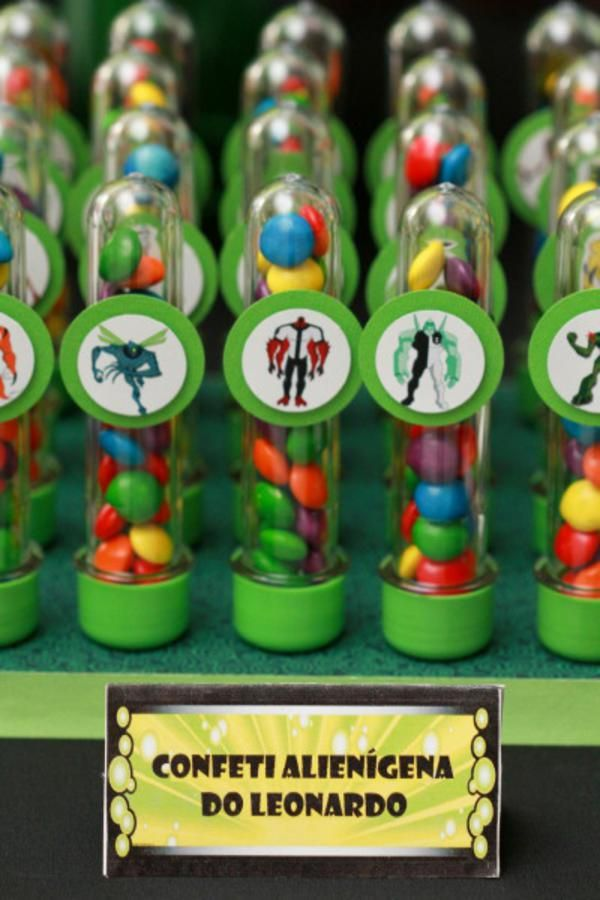 Ben 10 + Alien Themed 4th Birthday Party: favors