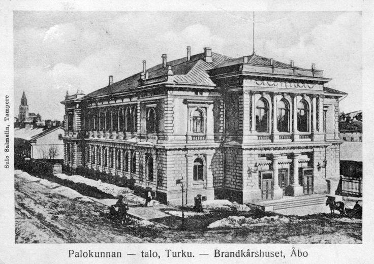 VPK:n talo kuvattuna postikorttiin 1910-luvulla. Kuva: Petri Aallon kokoelmat.