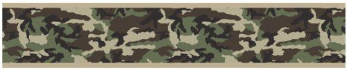 Green Camo Army Camouflage Baby, Kids and Teens Wall Paper Border by Sweet Jojo Designs