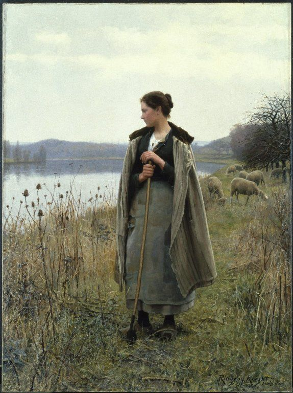 The Shepherdess of Rolleboise by Daniel Ridgway Knight  Published 1896