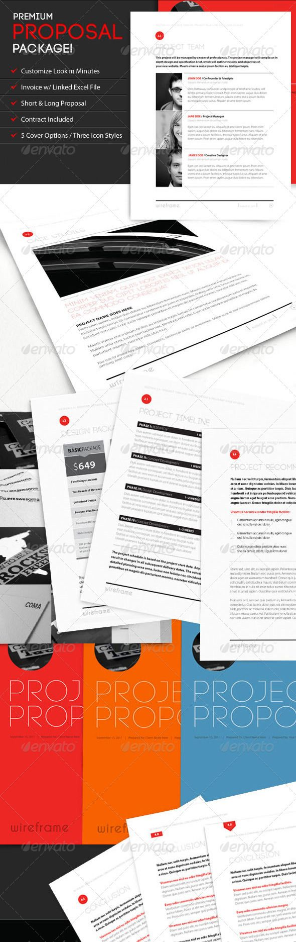 best ideas about s proposal report design project proposal template bundle w invoice contract