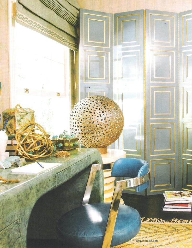 Kelly Wearstler - Green, gold and grandeur