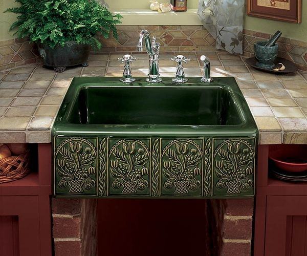 Garden Kitchen With Stone Top And Sink: 88 Best Images About Cool Natural Stone Kitchen Sinks In