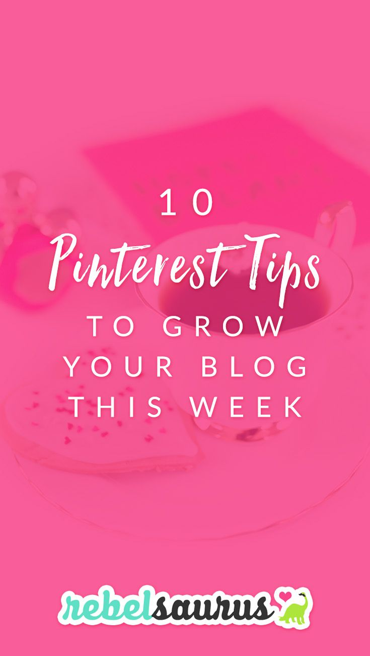 Are you frustrated by not seeing results for your blog from Pinterest?  Here are 10 Pinterest tips to grow your blog this week.